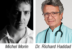 Dr. Richard Haddad et Michel Morin